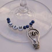 Light Bulb Personalised Wine Glass Charm